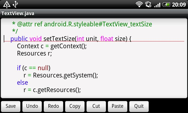 Jota Text Editor - screenshot
