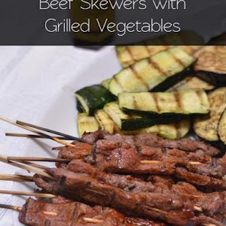 Beef Skewers with Grilled Vegetables