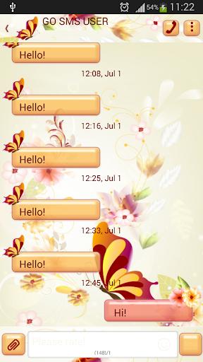 GO短信加强版可爱的花朵