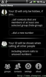 SecretSheep - hide caller ID - screenshot thumbnail