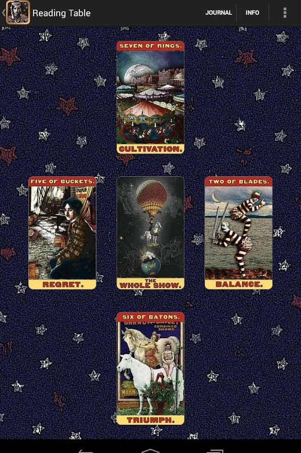 Tarot of the Zirkus Mägi- screenshot