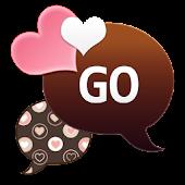 GO SMS - Peachy Hearts
