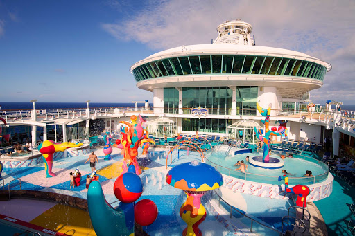 Freedom-of-the-Seas-H2O-Zone-1 - The  H2O Zone waterpark is a favorite with kids on Freedom of the Seas.