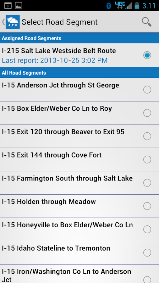 UDOT Citizen Reports - screenshot