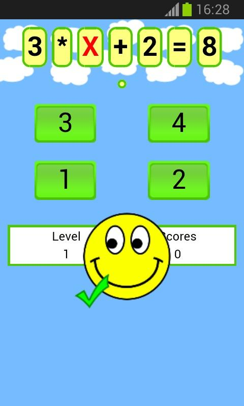 math equations game - screenshot