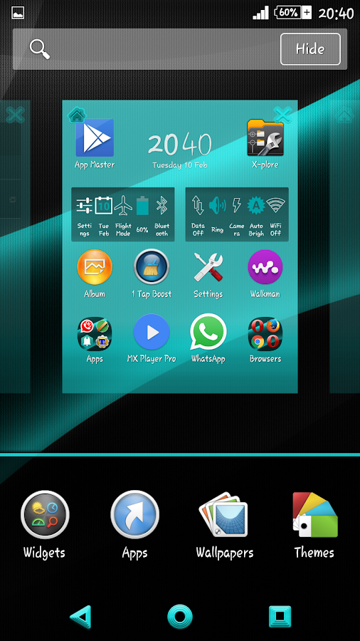 Darkness Teal On Black X Theme - Android Apps on Google Play