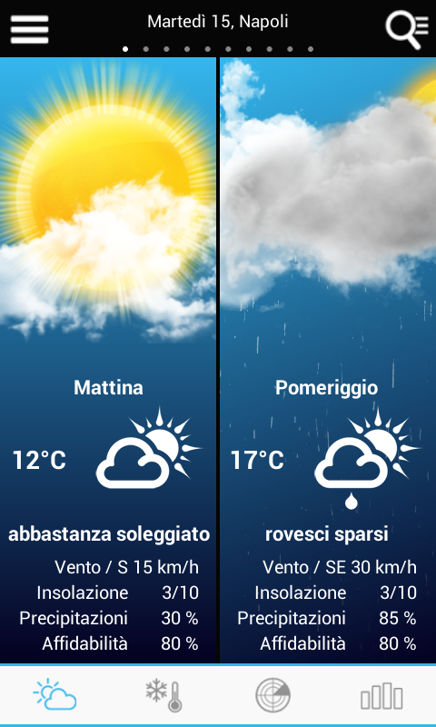 Weather for Italy - screenshot