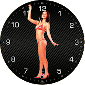 Sexy Girl Analog Clock Widget