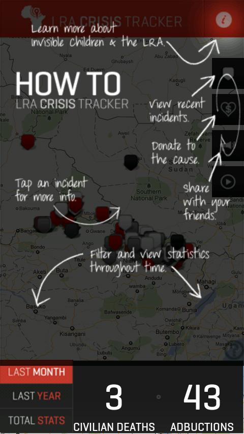 LRA Crisis Tracker - screenshot
