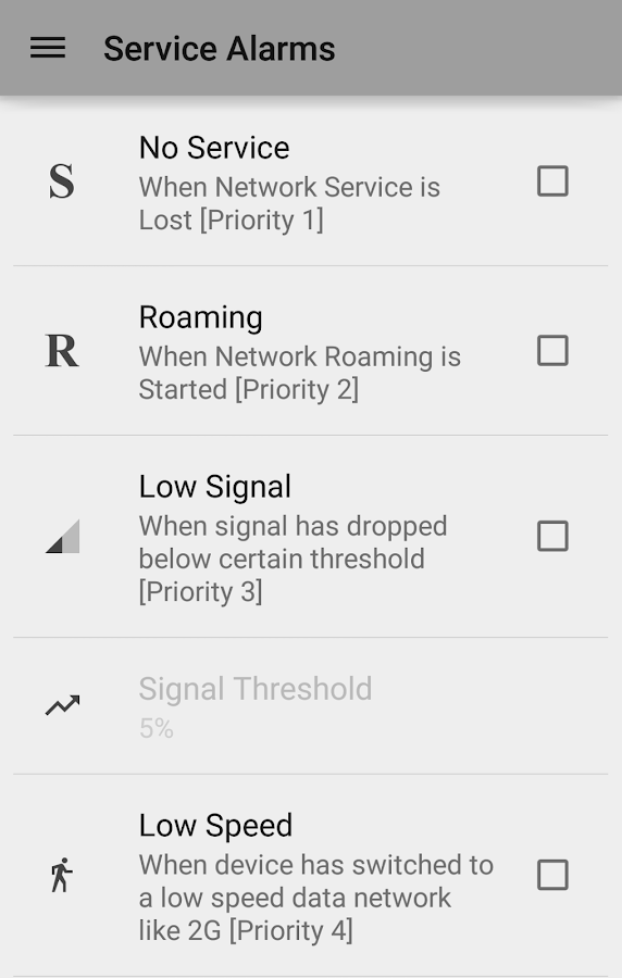 Network Signal Strength - screenshot