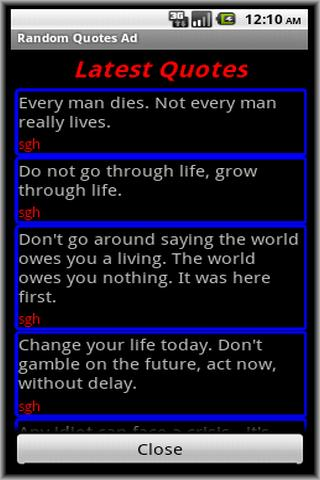 Random Quotes Ad- screenshot