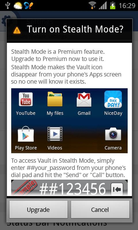 Vault-Hide SMS, Pics & Videos - screenshot