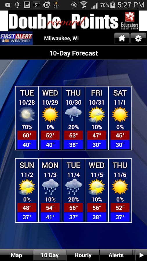 CBS58 Weather - screenshot