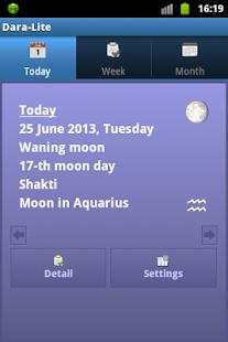 Lunar calendar Dara-Lite - náhled