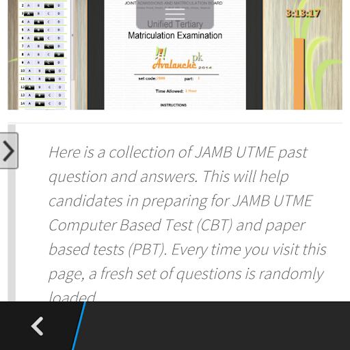 【免費教育App】Avalanche JAMB CBT-APP點子