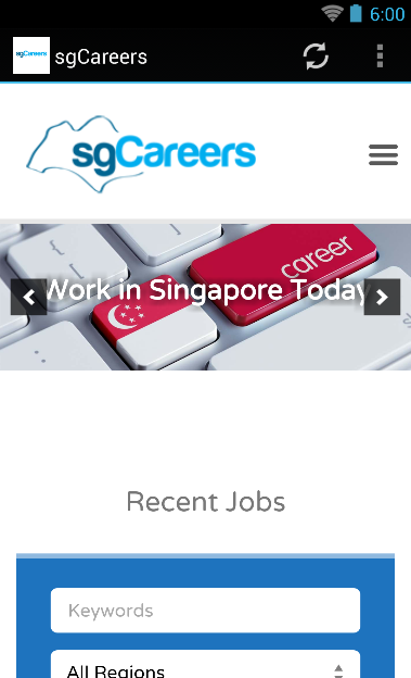 sgCareers- screenshot