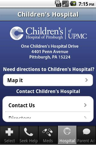 ChildrensPgh - screenshot