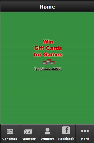 Win Gift Cards for Games- screenshot
