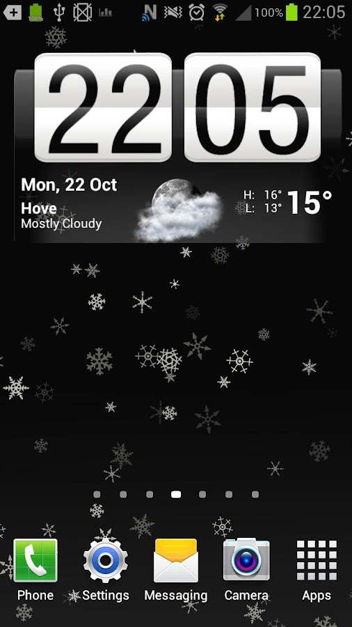 Snowflakes Live Wallpaper Free - screenshot