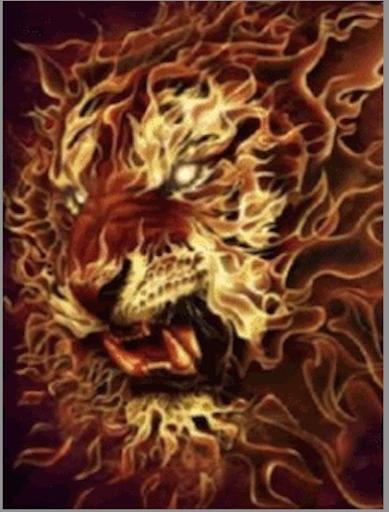 Amazing Fire Tiger LWP