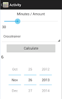 Screenshot of Point Tracker Weight Watchers