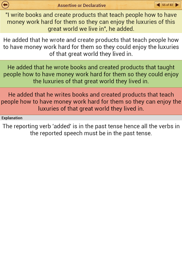 Grammar: Reported Speech - screenshot