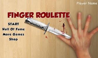 Screenshot of Finger Roulette (Knife Game)