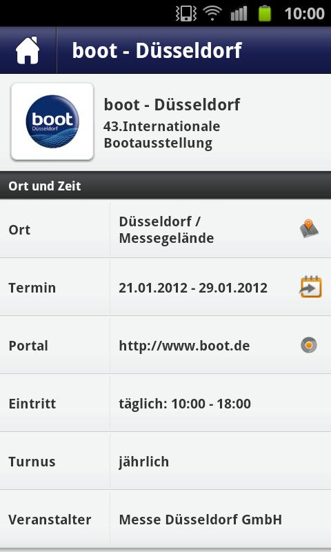 boot Düsseldorf App - screenshot