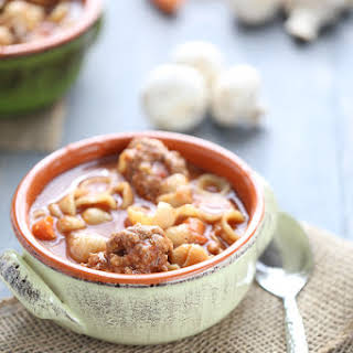 Easy Vegetable Soup with Meatballs.