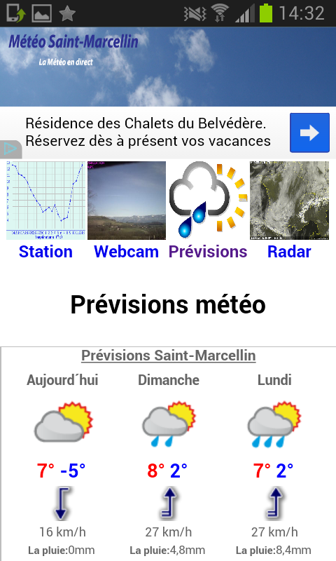 Météo Saint-Marcellin- screenshot