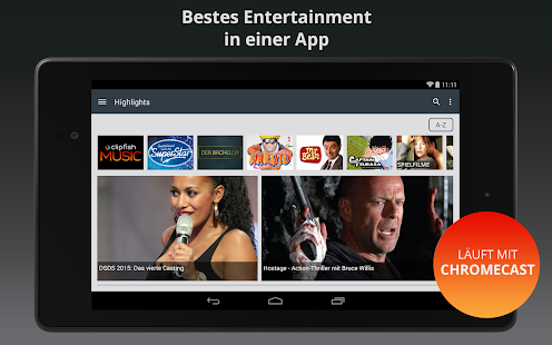 Clipfish: TV, Filme & Musik- screenshot thumbnail