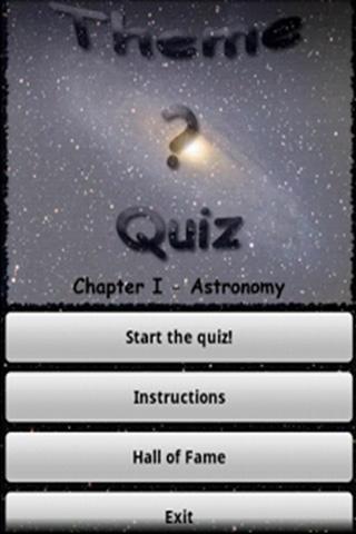 Theme Quiz Chapter I Astronomy