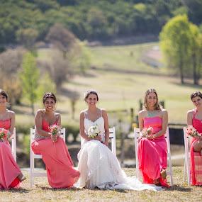 Ladies by Jorge Asad - Wedding Bride ( ladies, elegance, wedding, country field, group, bride )