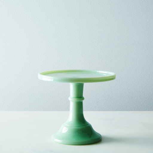 Miniature Jadeite Glass Cake Stand