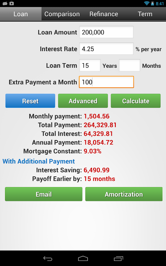 Financial Calculators - screenshot