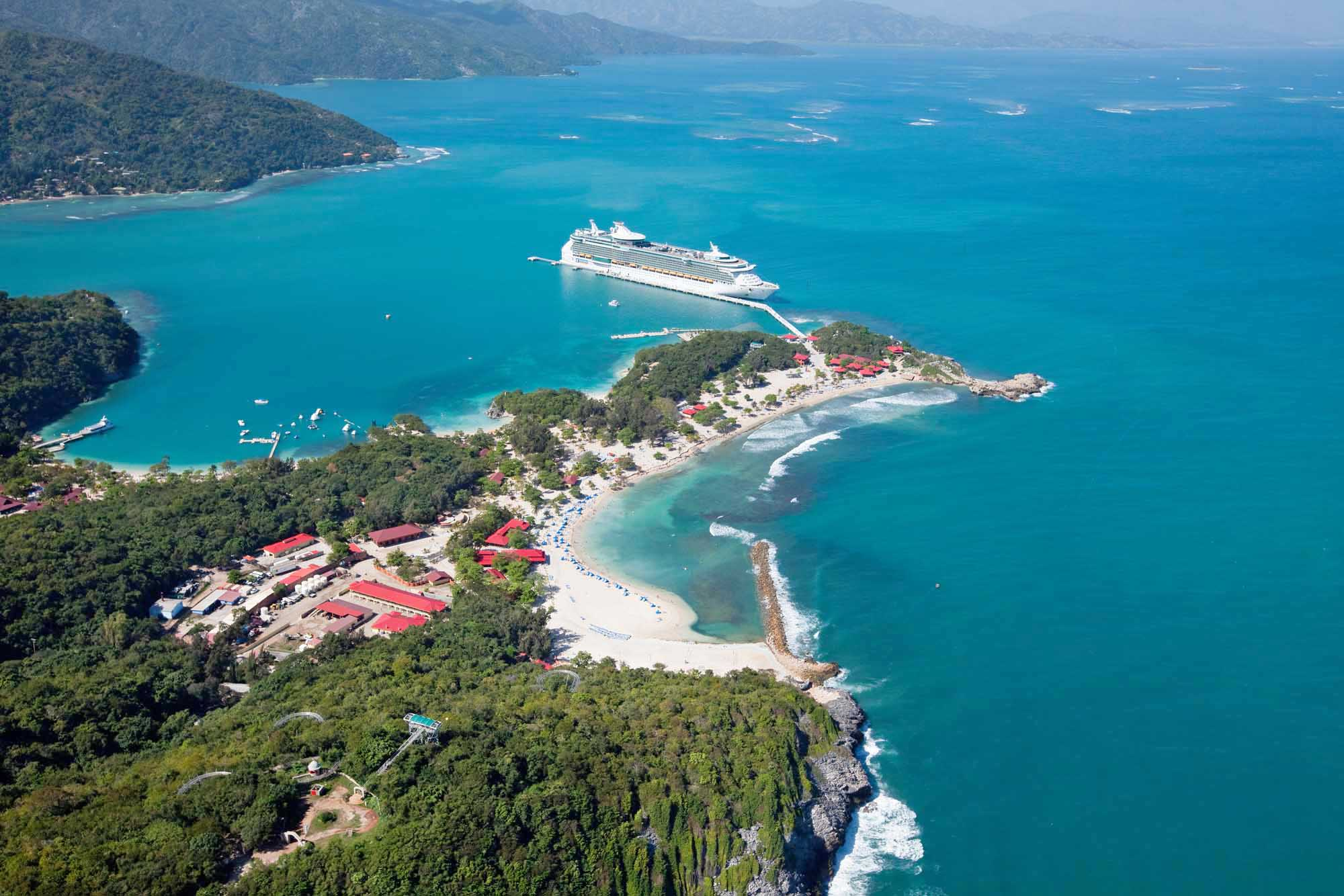 Navigator of the Seas in Labadee, Royal Caribbean's private resort on the north coast of Haiti.