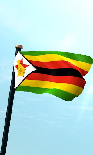 津巴布韦旗3D免费动态壁纸