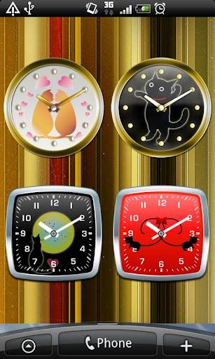 Cat Analog Clocks Full ver.