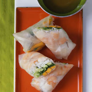 Mango Shrimp Summer Rolls.