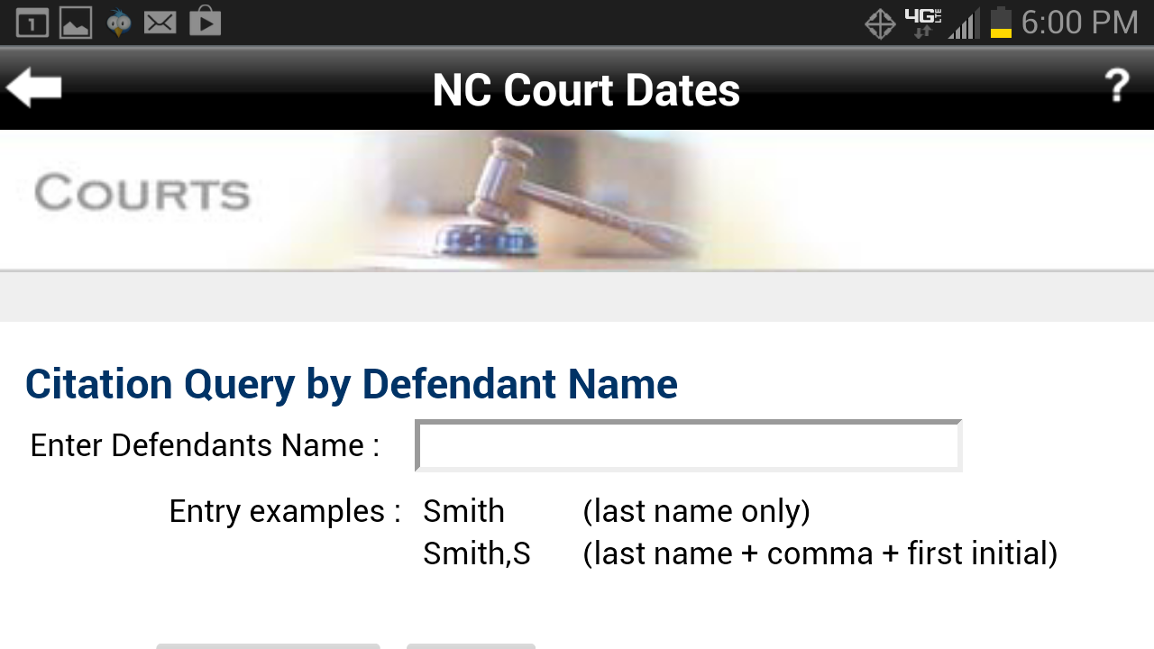 Find my court date nc
