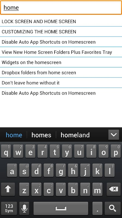 Droid 4 Tips and tricks - screenshot