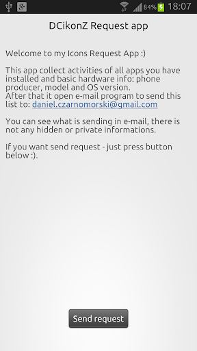 DCikonZ Request App