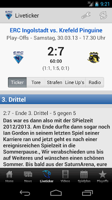 ERC Ingolstadt - screenshot
