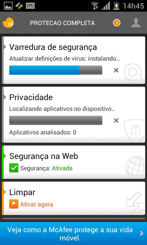 Oi Proteção Completa- screenshot