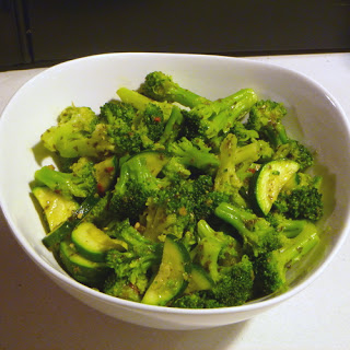 Broccoli and Zucchini with Pesto Recipe