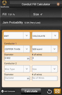 Southwire conduit fill calc android apps on google play southwire conduit fill calc screenshot thumbnail greentooth