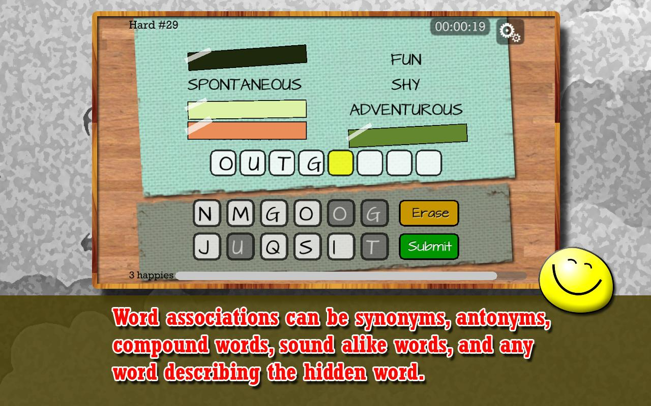 Four Word Association - Puzzle- screenshot