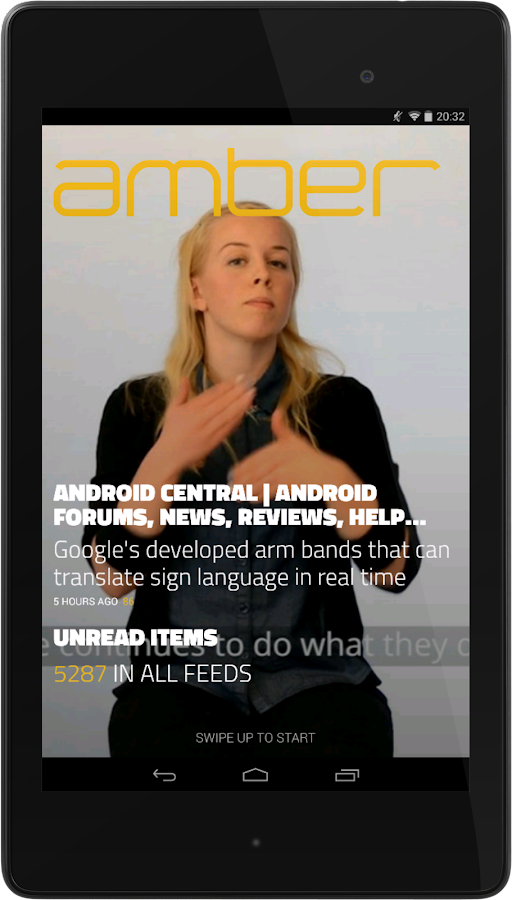 Amber RSS Reader- screenshot