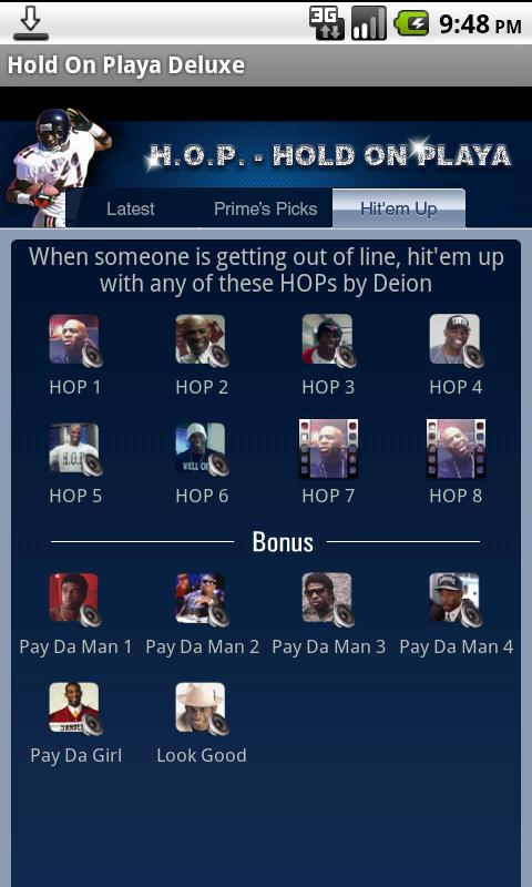 Hold On Playa by Deion Sanders- screenshot