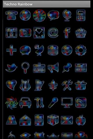 玩個人化App|ADWTheme TECHNO彩虹免費|APP試玩